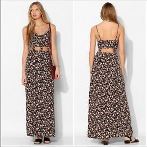 Urban Outfitters • floral print cut out maxi dress